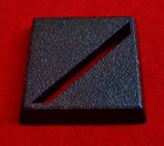 25mm Square Plastic Black Base Slotta Diagonal Slotted Games Workshop Warhammer Wargame Bases